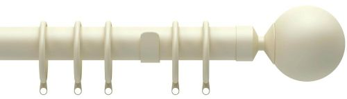 Speedy Nikola 28mm Metal Curtain Pole - Cream